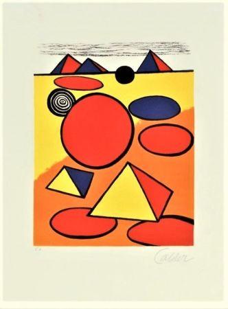 Lithographie Calder - Le Petite Pyramids