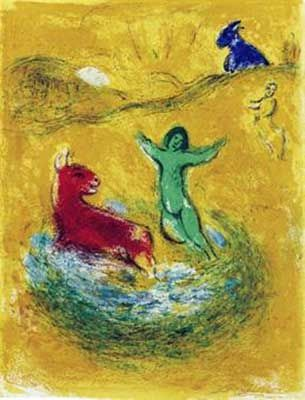 Lithographie Chagall - Le piège à loups