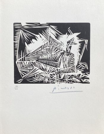 Linolschnitt Picasso - Le Pigeonneau