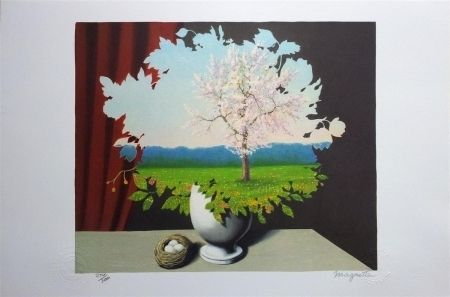 Lithographie Magritte - Le Plagiat (Plagiary)