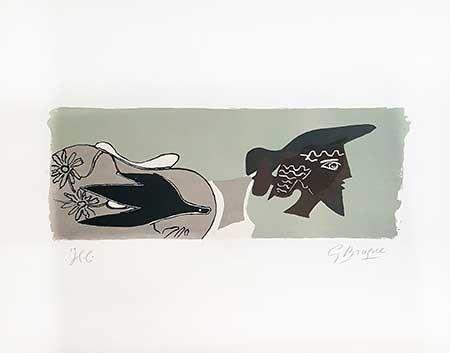 Lithographie Braque - Le Poète
