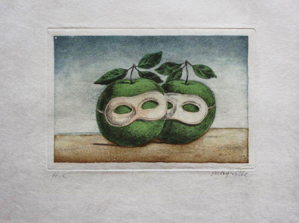 Radierung Und Aquatinta Magritte - Le Prêtre Marie