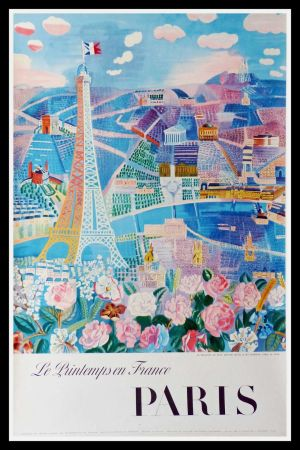 Lithographie Dufy - LE PRINTEMPS EN FRANCE PARIS