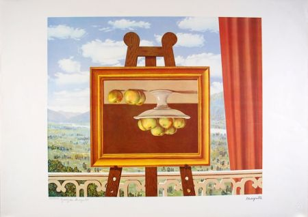 Lithographie Magritte - Le réveil Matin - The Morning Alarm clock