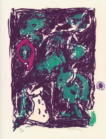 Lithographie Alechinsky - Le rare heureux