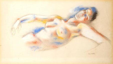 Lithographie Lhote - Le Repos de la Femme