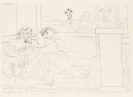 Radierung Picasso - Le repos du sculpteur 4