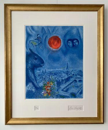 Lithographie Chagall - Le Soleil de Paris