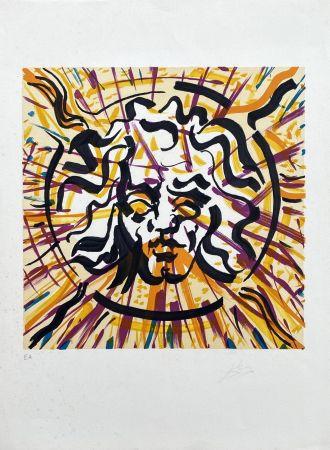 Lithographie Dali - Le Soleil (Les Vitraux)