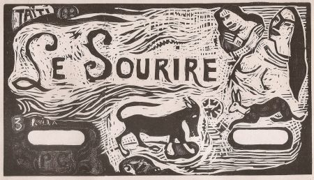 Holzschnitt Gauguin - Le Sourire