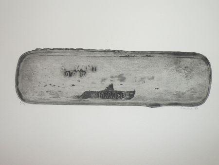 Radierung Favier - Le sous marin France