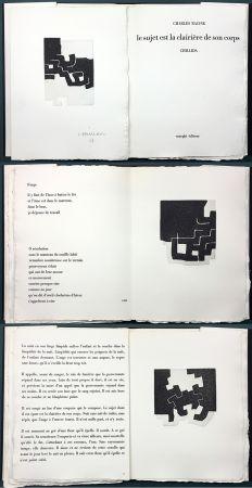 Illustriertes Buch Chillida - LE SUJET EST LA CLAIRIÈRE DE SON CORPS. Poèmes de Jean Racine