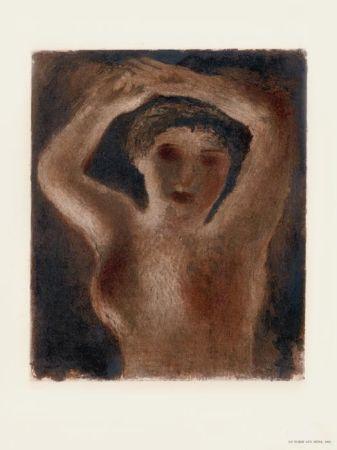 Lithographie Fautrier - Le Torse aux seins