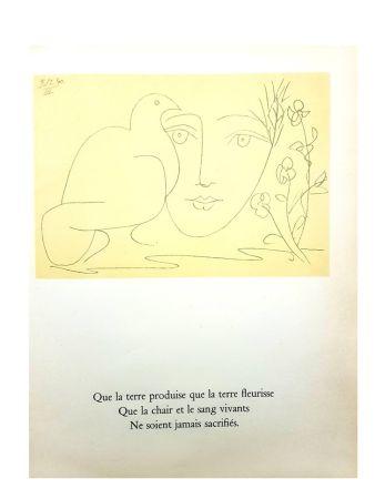 Lithographie Picasso (After) - Le Visage de la Paix