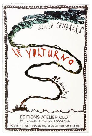 Plakat Alechinsky - Le Volturno, Blaise Cendrars, Pierre Alechinsky, 1990