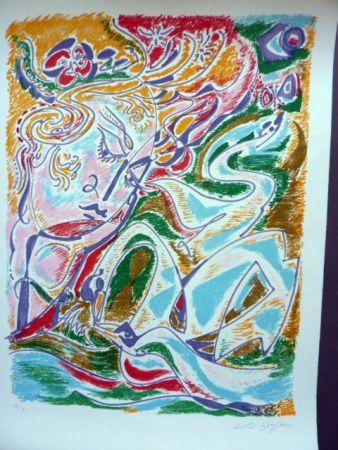 Lithographie Masson - Leda