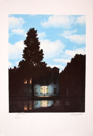 Lithographie Magritte - L'Empire des Lumières - The Empire of Light