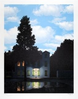 Lithographie Magritte - L'empire des lumières 1954