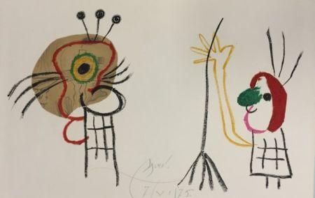 Lithographie Miró - L'enfant D' Ubu