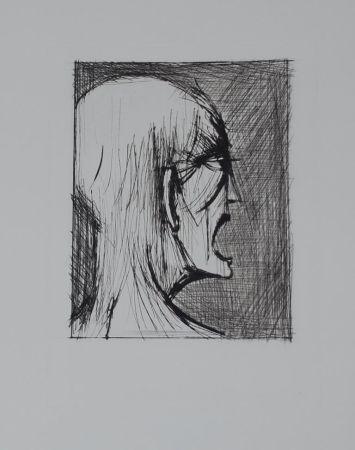 Kaltnadelradierung Buffet - L'enfer de Dante / Damné ricanant