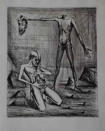 Kaltnadelradierung Buffet - L'enfer de Dante / Hélas