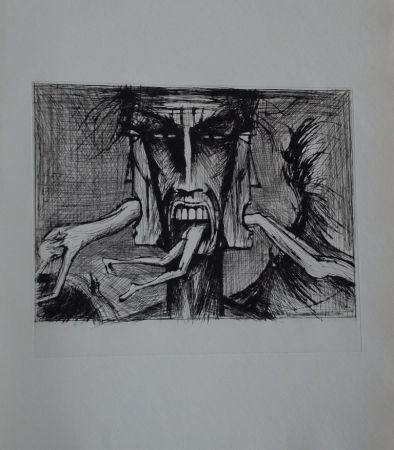 Kaltnadelradierung Buffet - L'enfer de Dante / Lucifer