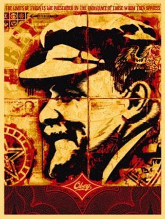 Siebdruck Fairey - Lenin Record