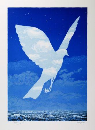 Lithographie Magritte - L'Entrée en scène
