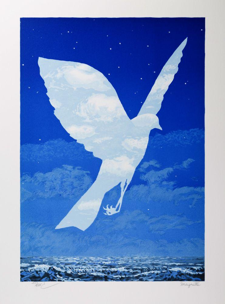 Lithographie Magritte - L'Entrée en scène (The Emergence)