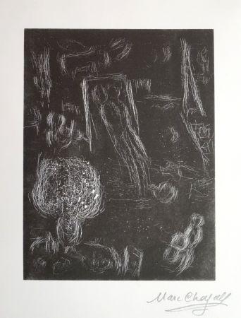 Linolschnitt Chagall - L'envol