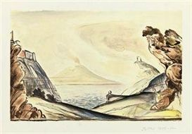 Lithographie Balthus - Les 22 concertos pour piano de Mozart