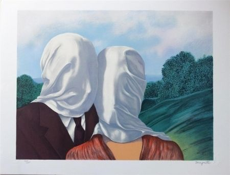 Lithographie Magritte - Les amants (The Lovers)