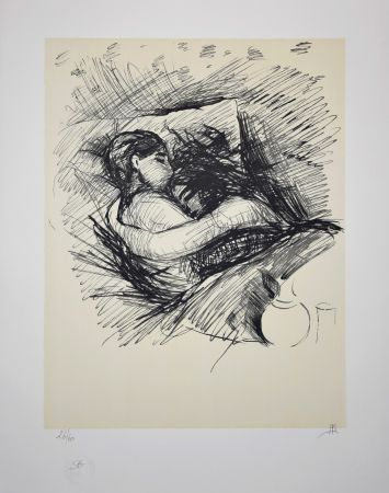 Lithographie Munch - Les Amoureux / Lovers - 1890