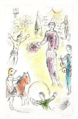 Lithographie Chagall -  Les Clowns Musiciens (Musical Clowns)
