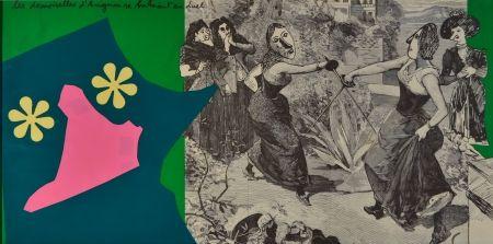 Lithographie Baj - Les Demoiselles D'Avignon