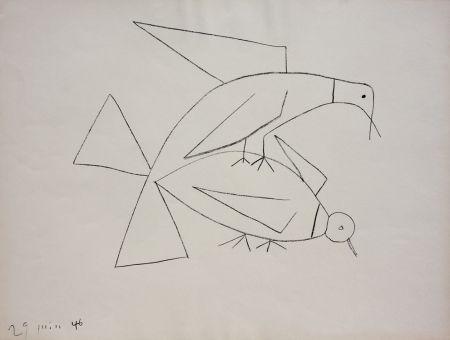 Lithographie Picasso - Les Deux Tourterelles II (B. 406)