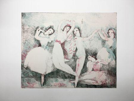 Lithographie Laurencin - LES FÊTES DE LA DANSE (Lithographie). 1937.