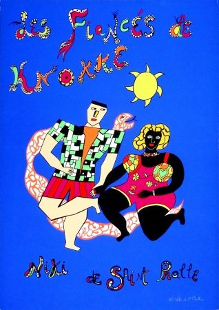 Siebdruck De Saint Phalle - Les fiancés de Knokke