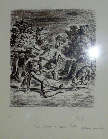 Lithographie Balthus - Les hauts de hurlevent