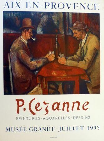 Lithographie Cezanne - Les joueurs de carte