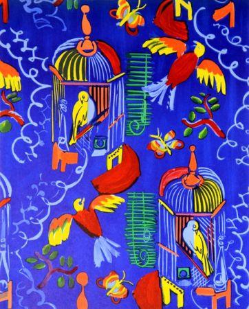 Lithographie Dufy - Les Oiseaux