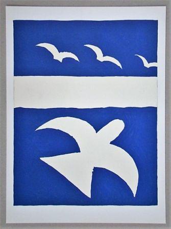 Lithographie Braque (After) - Les oiseaux