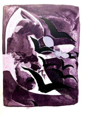 Lithographie Braque - Les Oiseaux de Nuit