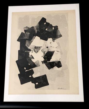 Monotypie Arman - Les Palettes De Viallalt, 1966