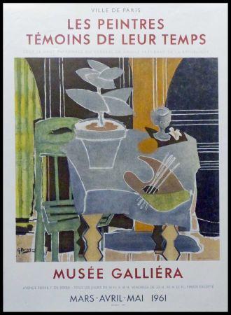 Lithographie Braque - LES PEINTRES TEMOINS DE LEUR TEMPS