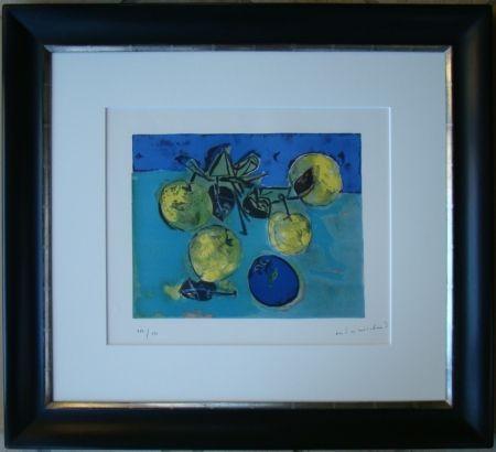 Lithographie Marchand - Les pommes