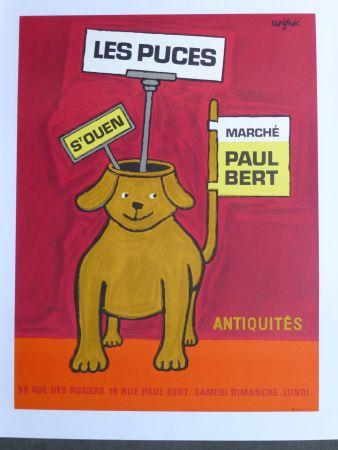 Plakat Savignac - Les puces de Saint Ouen