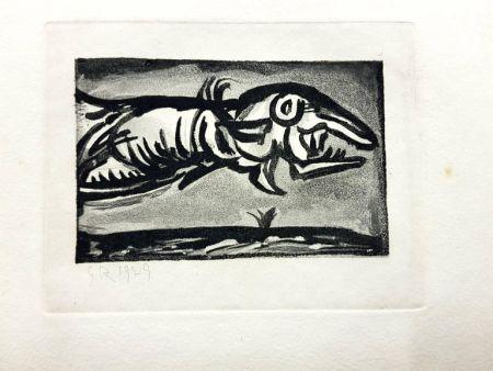 Lithographie Rouault (After) - Les Réincarnations du Père Ubu