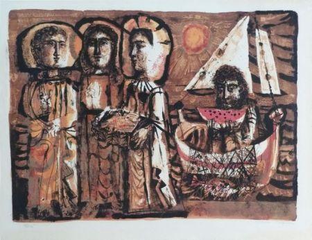 Lithographie Clavé - Les Saintes-Maries