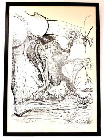 Lithographie Dali - Les Songes Drolatiques